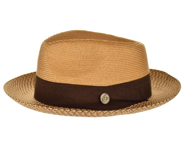 Steven Land Hat | Bel-Air Collection | Cognac/Brown Multi