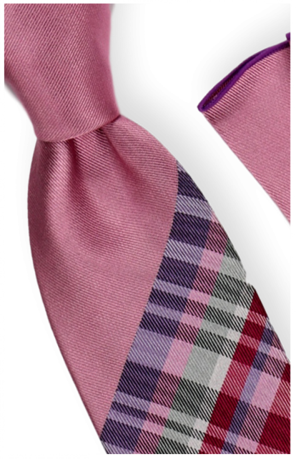 Tie and Hanky Set | 100% silk | Big-Knot | BWR735