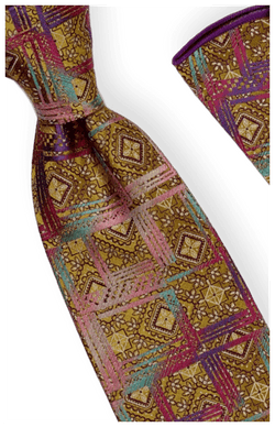 Tie and Hanky Set | 100% silk | Big-Knot | BWR745
