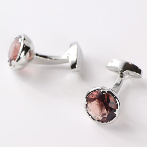 Steven Land Cufflinks  Style CF534  Color Pink