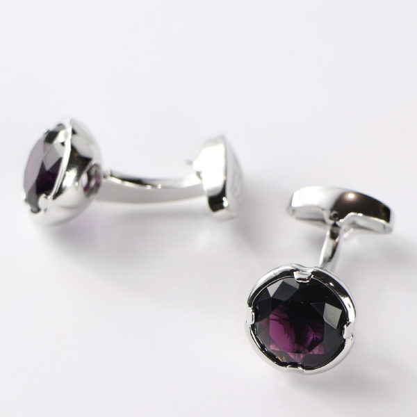 Steven Land Cufflinks  Style CF534  Color Purple