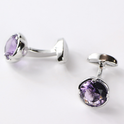 Steven Land Cufflinks  Style CF534  Color Lilac