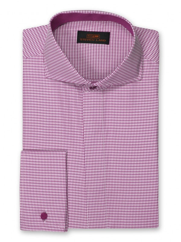 Dress Shirt | DC853 | Trim Fit | Spread Collar | French Cuff | Raspberry