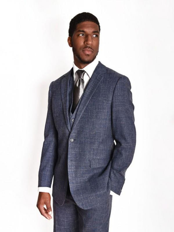 Steven Land | Duomo 3 PC Wool Suit | Heather Grey