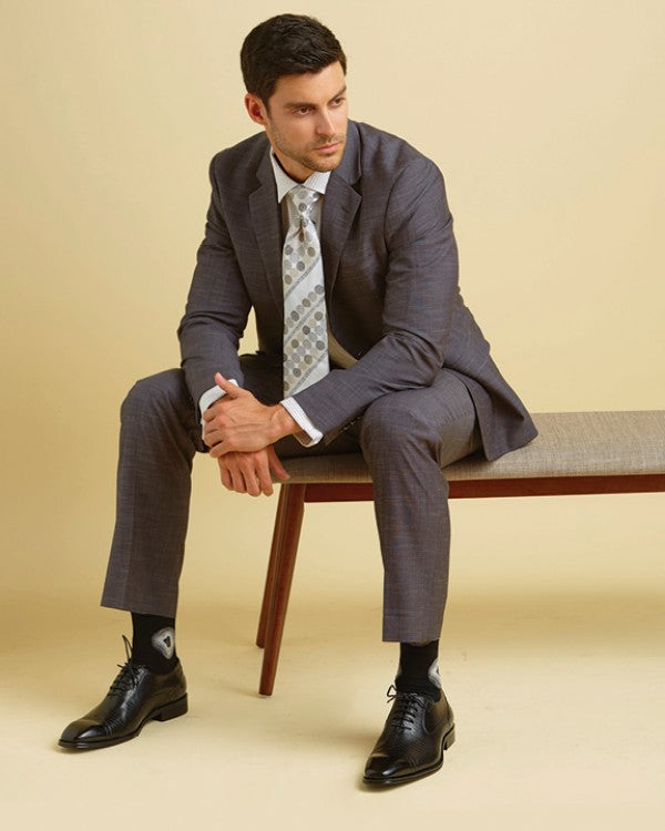 Steven Land | Dark Grey Novelty Weave Pietro Suit | SL77-782