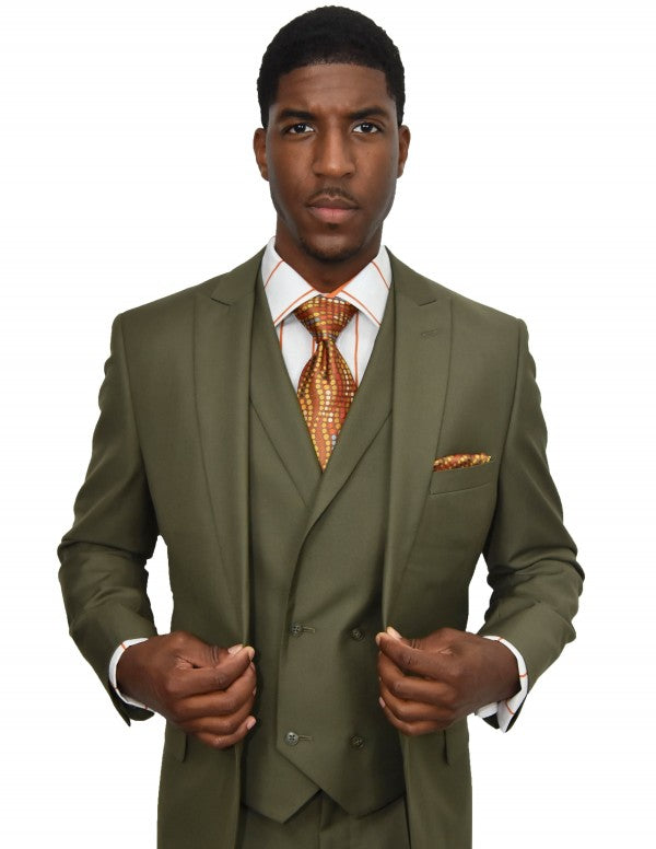 Steven Land | 3 Piece Wool Suit | Walter | Classic Fit | Olive