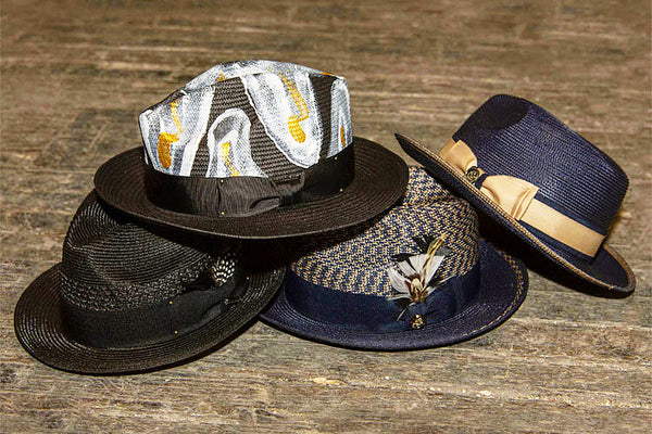 Steven Land Hats | Manhattan Natural Braid Fedora | Navy