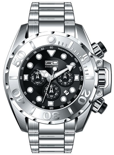 Steven Land Watch | New York Collection | Wolf Of Wall St | Silver