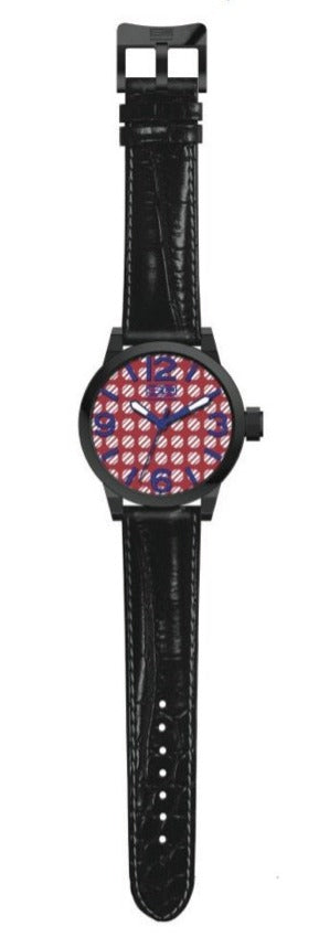 Steven Land Watch | Fashion Collection | Black Leather Strap | Athlete Chic