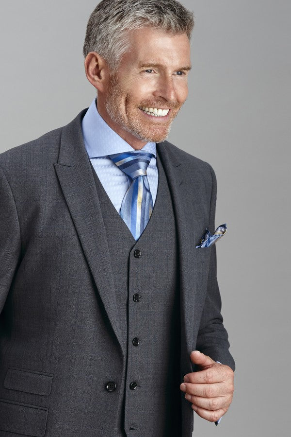 Steven Land | Dino 3 PC Wool Suit In Dark Grey