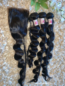 Brazilian Diamond Wave Bundles w/Closure