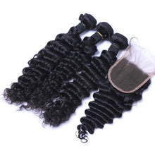 Load image into Gallery viewer, Brazilian Exotic Wave Bundles w/Closure