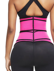 Firm Two Strap Zipper Abdominal Waist Trainer