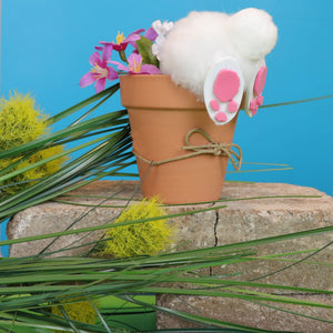 Spring Crafts: How To Make A Bunny In A Flower Pot