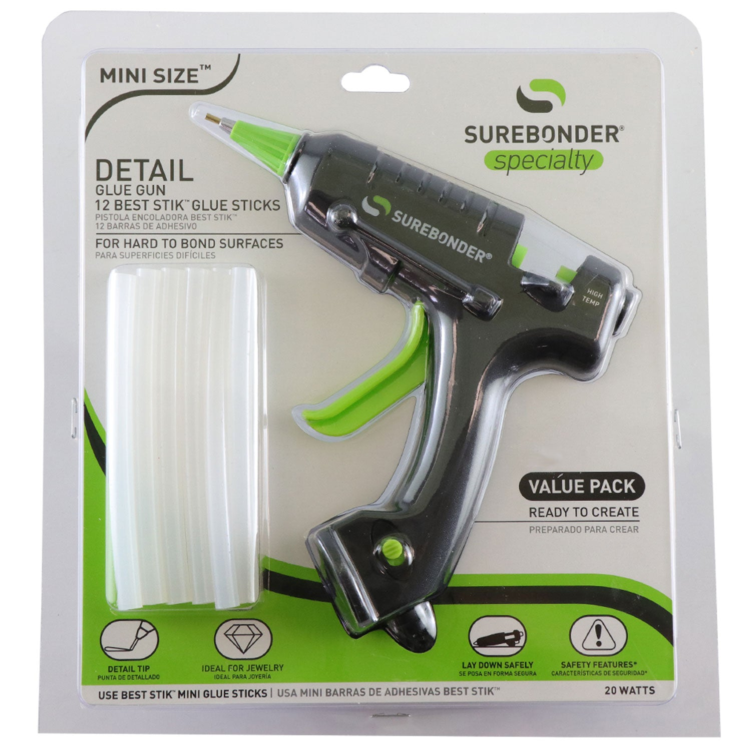 Light Duty Detailer Mini Glue Gun Kit