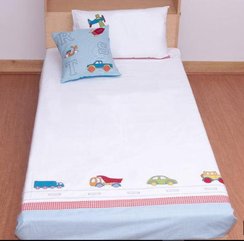 ABC Car Top Sheet & Pillow case Set