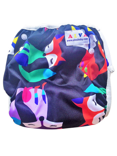 OSFM Reusable Swim Nappy - Foxes