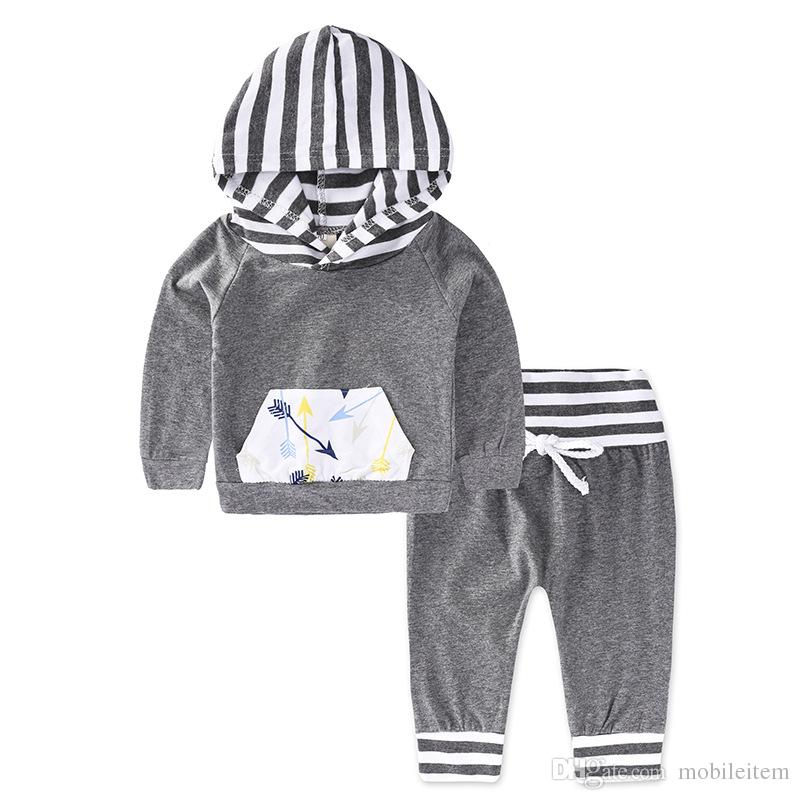 Grey Stripes & Arrows set