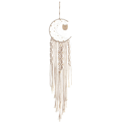 Macrame moon & owl dreamcatcher