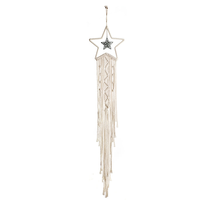 Macrame star dreamcatcher