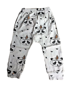 White Panda Harem Pants