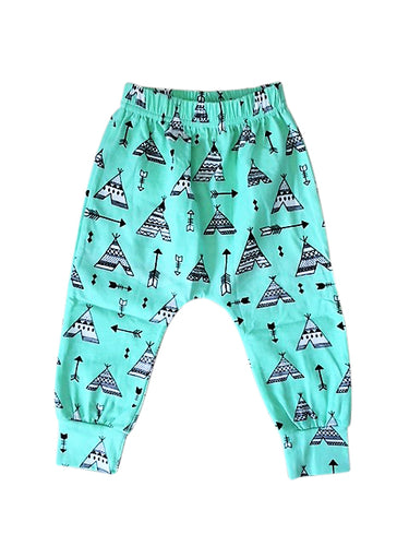 Mint Teepee Harem Pants
