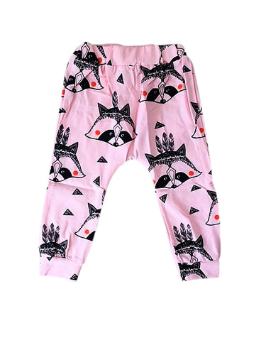 Pink Raccoon Harem Pants