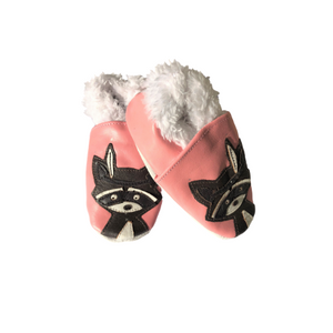 Pink Raccoon with faux fur lining