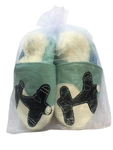 Blue Planes with faux fur lining