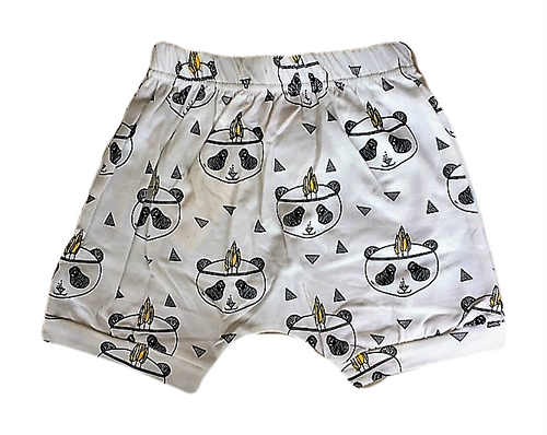 White Panda Harem Shorts