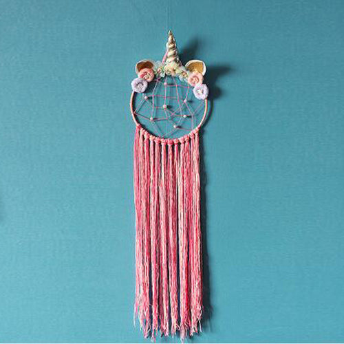 Pink unicorn dreamcatcher