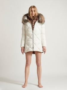 CARLA MINI - Goose Down diamond stitched Winter Coat
