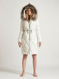 CECILIA MIDI - Goose Down diamond stitched Winter Coat