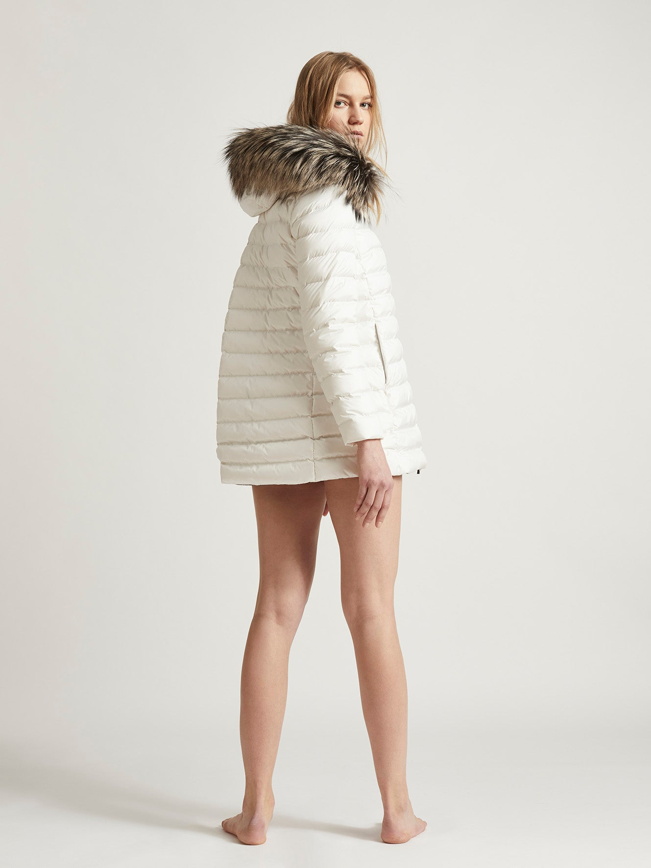 Emily Mini Fur White
