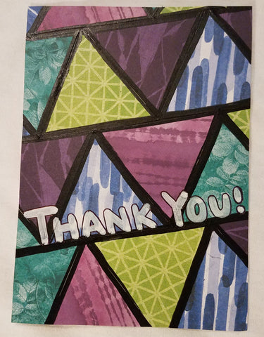 Triangle Collage Thank You Card