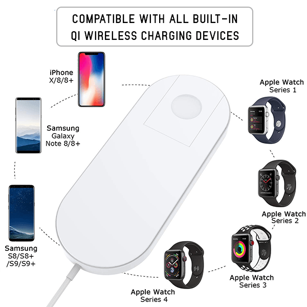 2 In 1 Wireless Charging Pad