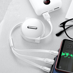 3-in-1 Retractable USB Charging Cable