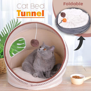 Foldable Cat Bed Tunnel