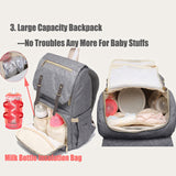 Diaper Backpack With Rechargeable Bottle Warmer