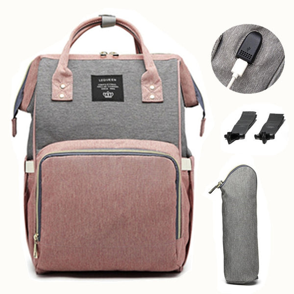 LeQueen Ultimate USB Diaper Backpack