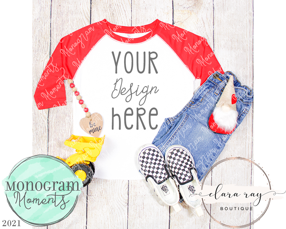 Boy's Red Raglan - Vday