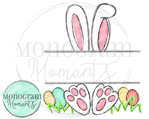 Outlined Easter Bunny Name Plate