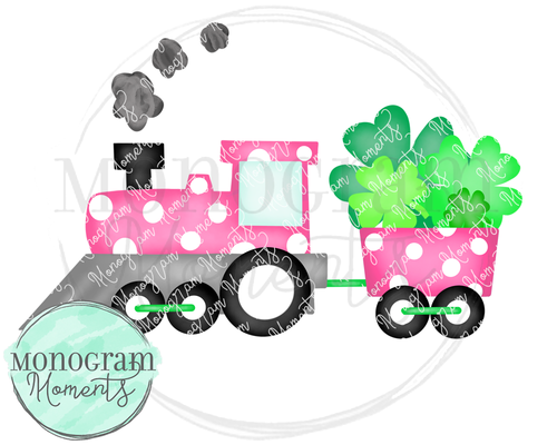 Pink St. Patrick's Day Train