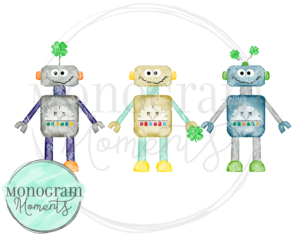 Boy's St. Patrick's Day Robot Trio
