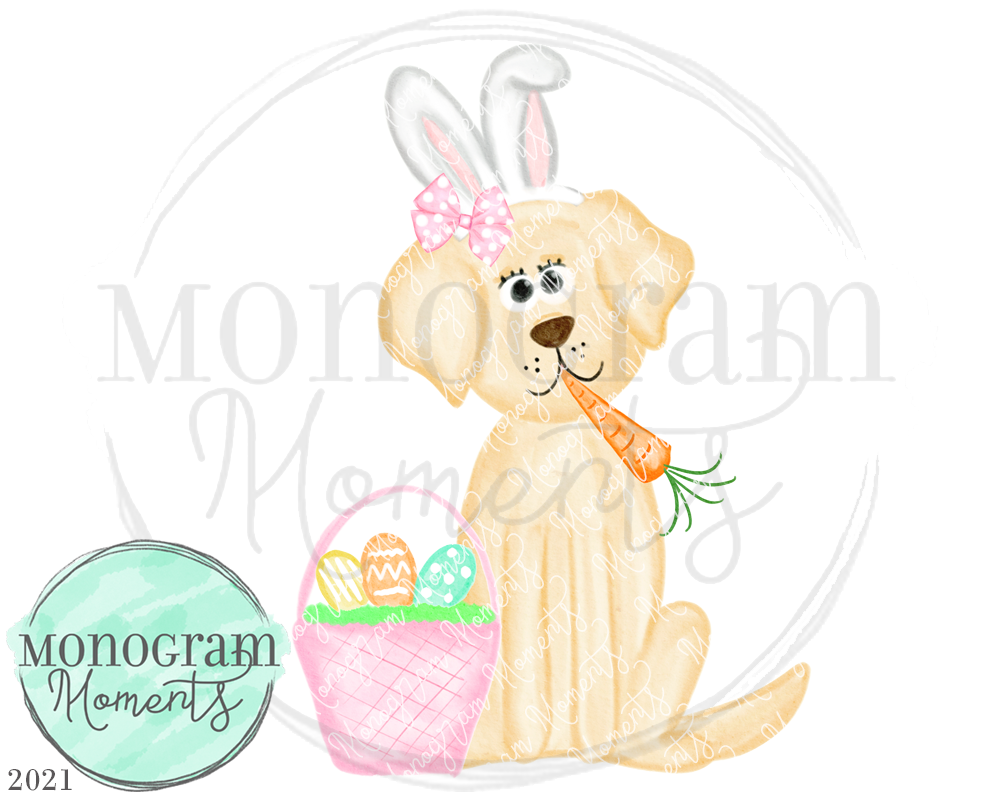 Girl's Easter Yellow Lab 2021