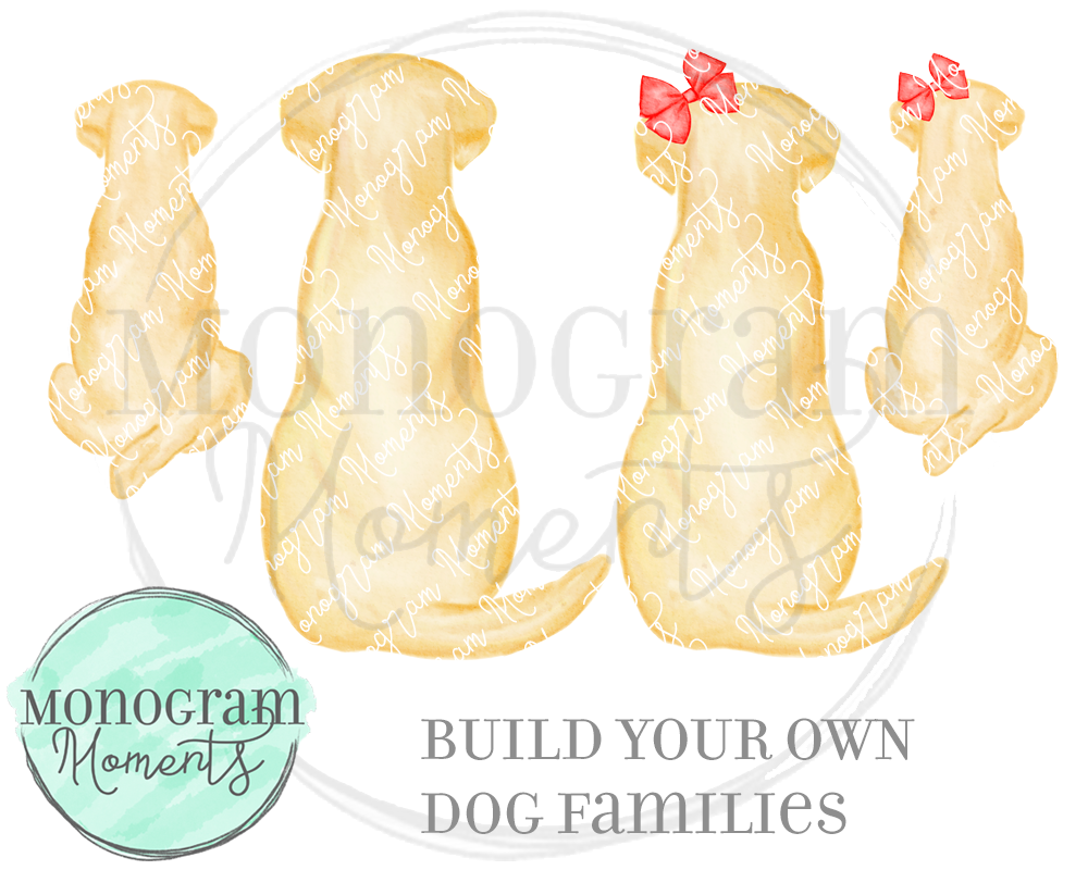 Build-Your-Own Yellow Lab Family