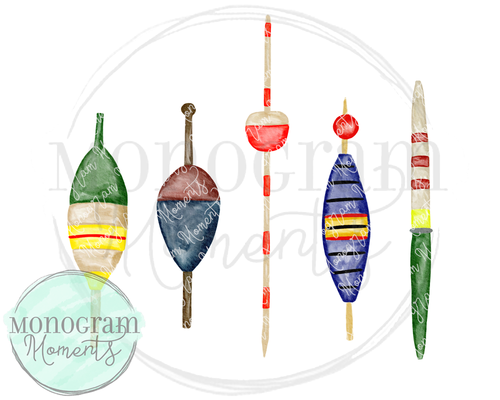Watercolor Fishing Bobbers