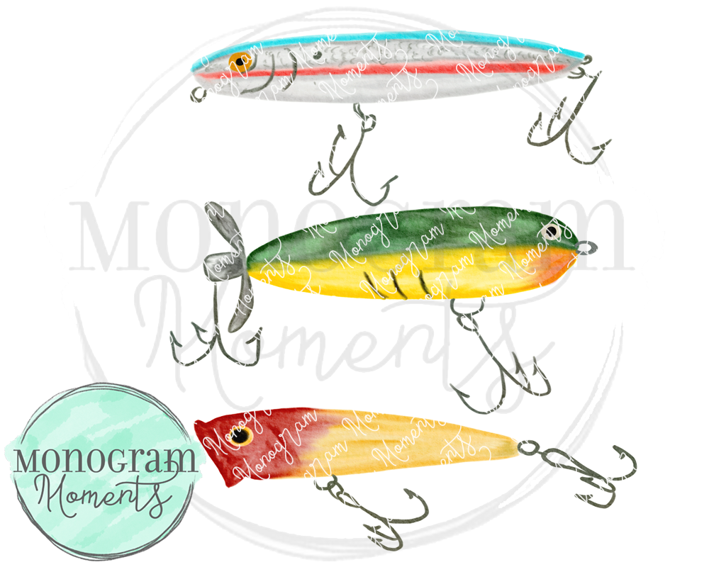 Watercolor Fishing Lures