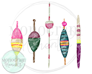 Girl's Watercolor Fishing Bobbers