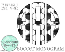 Load image into Gallery viewer, Soccer Monogram